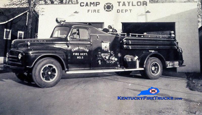 RETIRED<br /> Camp Taylor Engine 5 <br /> 1953 International L/Howe 500/500<br /> Kent Parrish collection