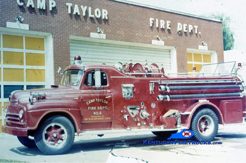 RETIRED <br /> Camp Taylor Engine 6<br /> 1954 International Howe 500/500<br /> Kent Parrish collection