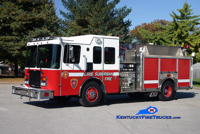 <center> NOW WITH PLEASURE RIDGE PARK <br> Dixie Suburban  Engine 3031 <br> 2006 HME Ahrens-Fox 1500/1800/30 <br> Kent Parrish photo <center> </center></center>