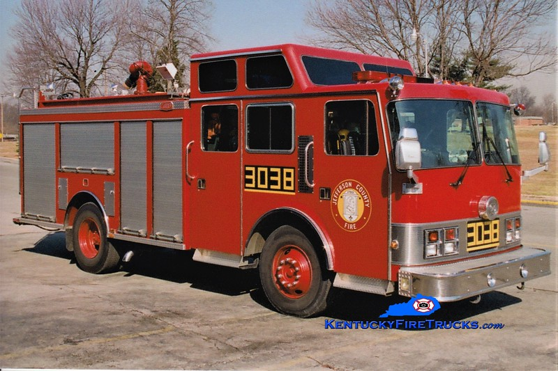 RETIRED  <br /> Dixie Suburban Engine 3038 <br /> x-St. Matthews, KY <br /> 1989 Pemfab Monogram/Gator 1250/500 <br /> Greg Stapleton photo