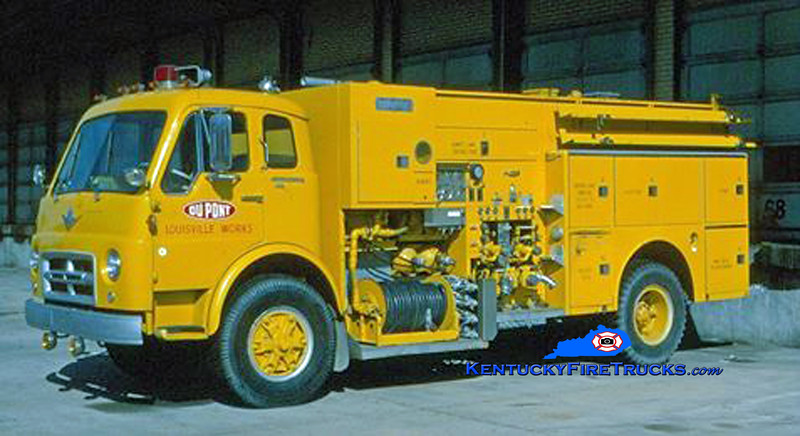 RETIRED<br /> Dupont Louisville Works Engine 1 <br /> 1969 International VCO190/Ward LaFrance 1250/300/750PK <br /> Kent Parrish collection