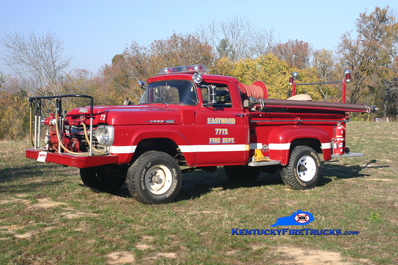<center> RETIRED <br> Eastwood Forestry 7772 <br> 1959 Ford F-250 4x4/Howe 500/200 <br> Kent Parrish photo </center>