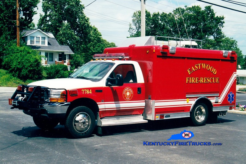 <center> RETIRED <br> Eastwood Rescue 7784 <br> 1999 Ford F-550 4x4/Hackney  <br> Greg Stapleton photo </center>