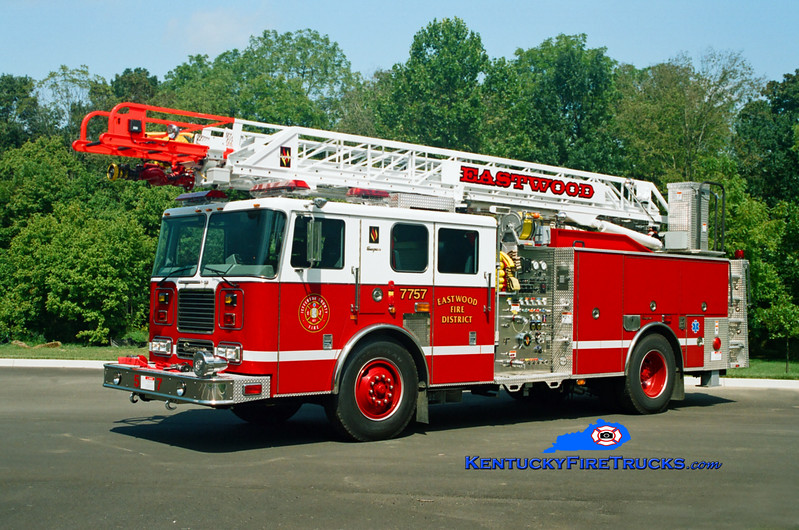<center> Eastwood Quint 7757 <br> 2004 Seagrave Marauder 1500/500/75' Meanstick <br> Kent Parrish photo </center>