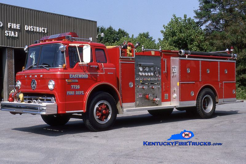 RETIRED<br /> Eastwood Engine 7726<br /> 1983 Ford C-8000/Boyer 1000/750<br /> Kent Parrish collection