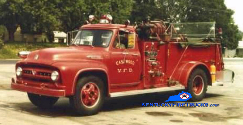 RETIRED<br /> Eastwood Engine 1<br /> 1953 Ford F-800/Luverne 500/300<br /> Kent Parrish collection