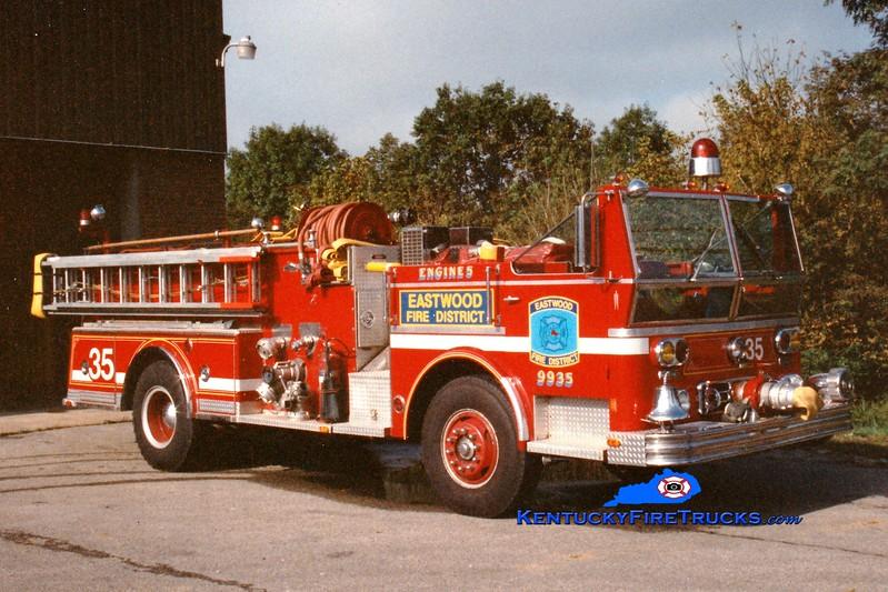 <center> RETIRED <br> Eastwood Engine 7735 <br> x-Middletown, KY <br> 1977 Ward LaFrance 1000/500  <br> Greg Stapleton photo </center>