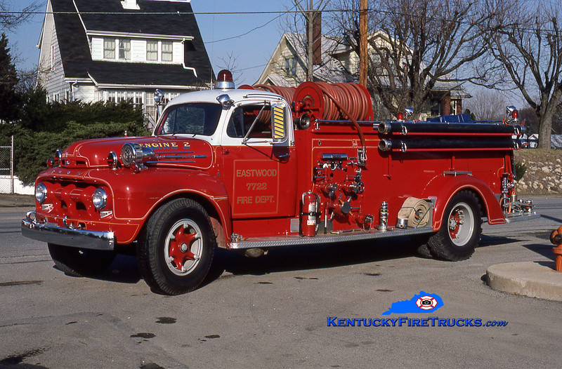 RETIRED<br /> Eastwood Engine 7722<br /> x-Middletown, KYT<br /> 1952 Ford F7/Boyer 500/500<br /> Kent Parrish collection