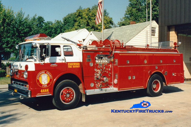 <center> RETIRED <br> Edgewood  Quad 4444 <br> 1965 Ford C-850/Oren 1000/500  <br> Greg Stapleton photo </center>
