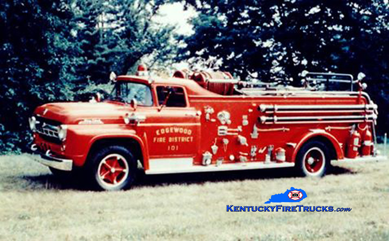 RETIRED <br /> Edgewood Engine 101 <br /> x-Camp Taylor, KY<br /> 1957 Ford F-750/American 750/500<br /> Kent Parrish collection