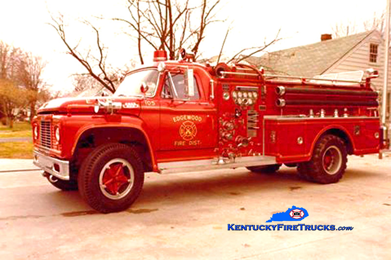 RETIRED <br /> KY Edgewood Engine 105 <br /> 1966 Ford F-800/Oren 750/500 <br /> Kent Parrish collection