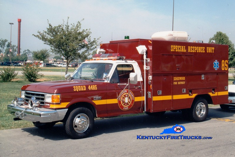 <center> RETIRED <br> Edgewood  Squad 4485 <br> 1985 Ford F-350/Knapheide <br> Greg Stapleton photo </center>