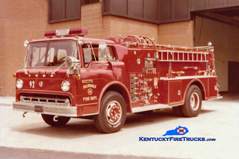 RETIRED<br /> Fairdale Engine 92<br /> 1972 Ford C-900/Howe 1000/1000<br /> Kent Parrish collection