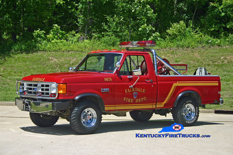 <center> Fairdale  Forestry 9078 <br> 1992 Ford F-150 4x4 125/100 <br> Kent Parrish photo </center>