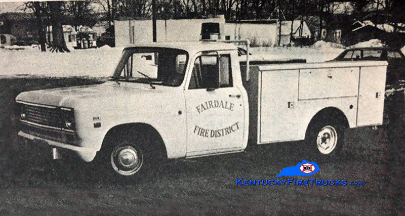 RETIRED<br /> Fairdale Rescue 906<br /> 1970 International <br /> Kent Parrish collection