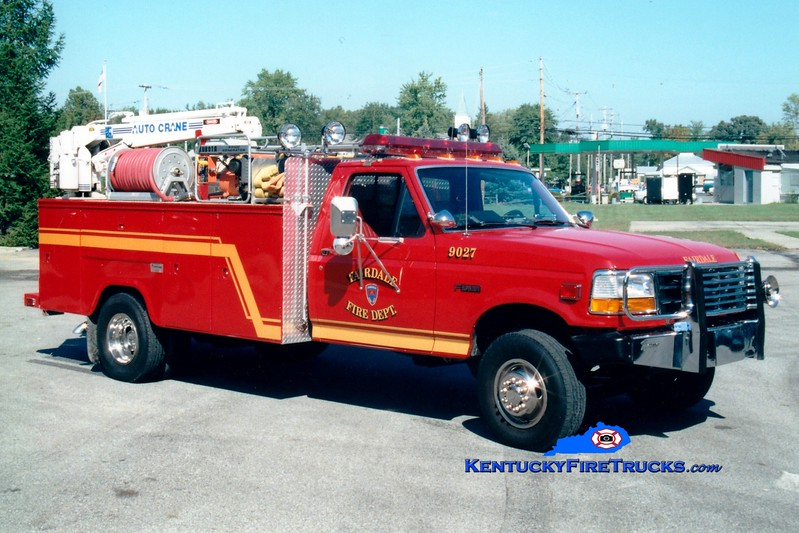 <center> RETIRED <br> Fairdale  Engine 9027 <br> 1994 Ford F-350 4x4/Fontaine 400/200  <br> Greg Stapleton photo  </center>