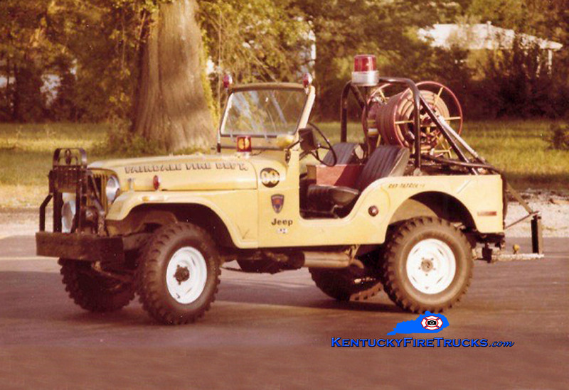 RETIRED<br /> Fairdale Forestry 99<br /> 1974 Jeep CJ-5 4x4<br /> Kent Parrish collection