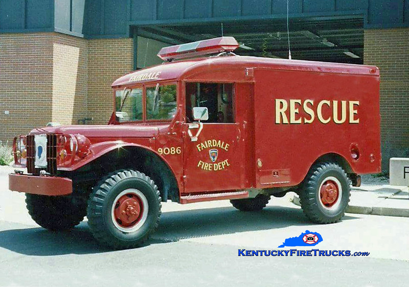 RETIRED<br /> Fairdale Rescue 9086<br /> 1953 Dodge <br /> Kent Parrish collection