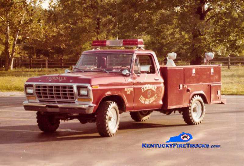 RETIRED<br /> Fairdale Rescue 9087<br /> 1979 Ford F-150<br /> Kent Parrish collection