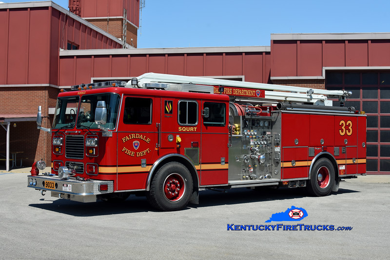 Fairdale Squrt 9033<br /> 2001/2017 Seagrave Marauder 1500/500/54'<br /> Kent Parrish photo