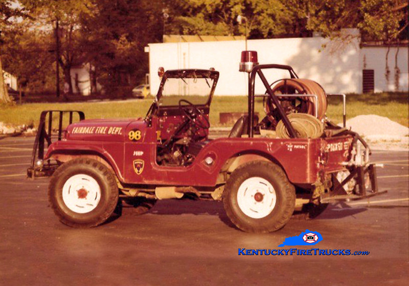 RETIRED<br /> Fairdale Forestry 98<br /> 1965 Jeep CJ-5 4x4<br /> Kent Parrish collection