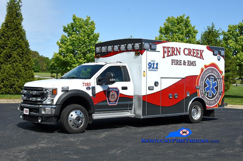 Fern Creek  Med 7185<br /> 2021 Ford F-550 4x4/Braun<br /> Kent Parrish photo