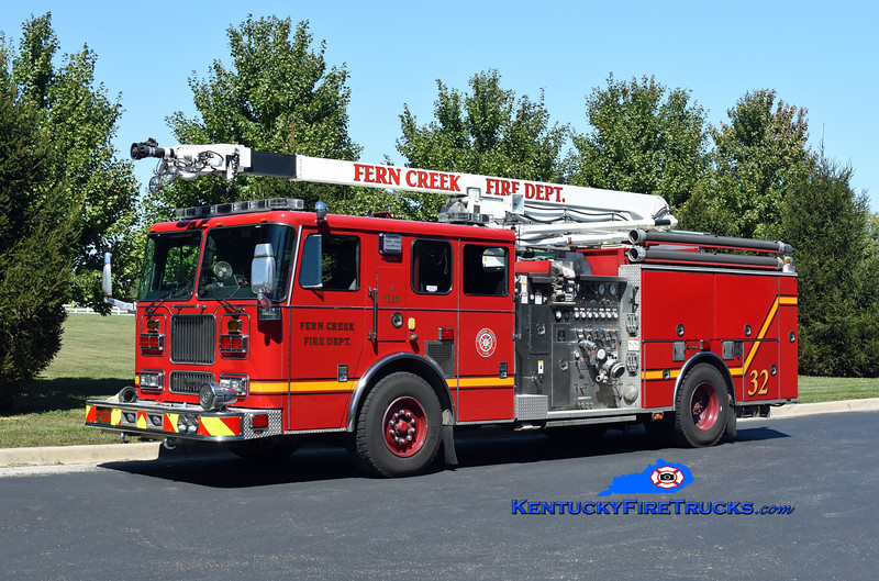 Fern Creek  Engine 7132<br /> x-Engine 7134 and 7131 <br /> 1999/2008 Seagrave Marauder 1500/750/52' Snozzle<br /> Kent Parrish photo