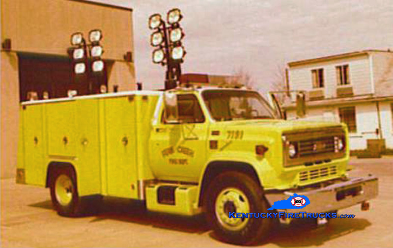 RETIRED<br /> Fern Creek Rescue 7181<br /> 1978 Chevy/Super-Vac<br /> Kent Parrish collection