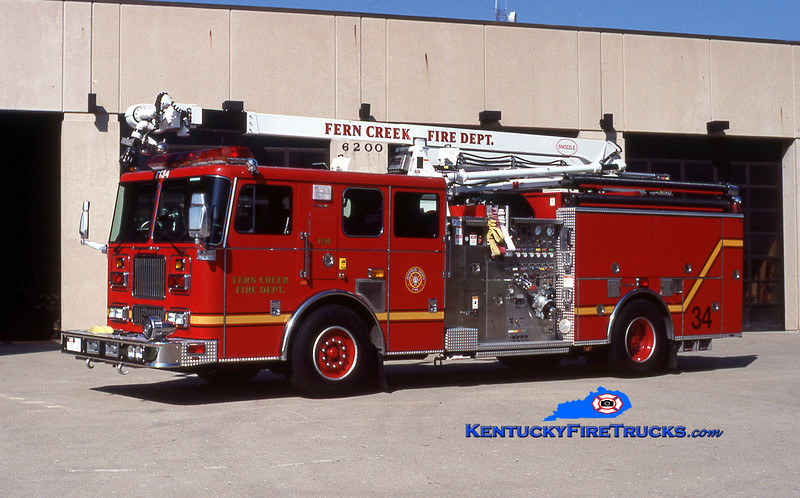 REASSIGNED <br /> Fern Creek  Engine 7134<br /> 1999 Seagrave Marauder 1500/750/52' Snozzle<br /> Kent Parrish collection