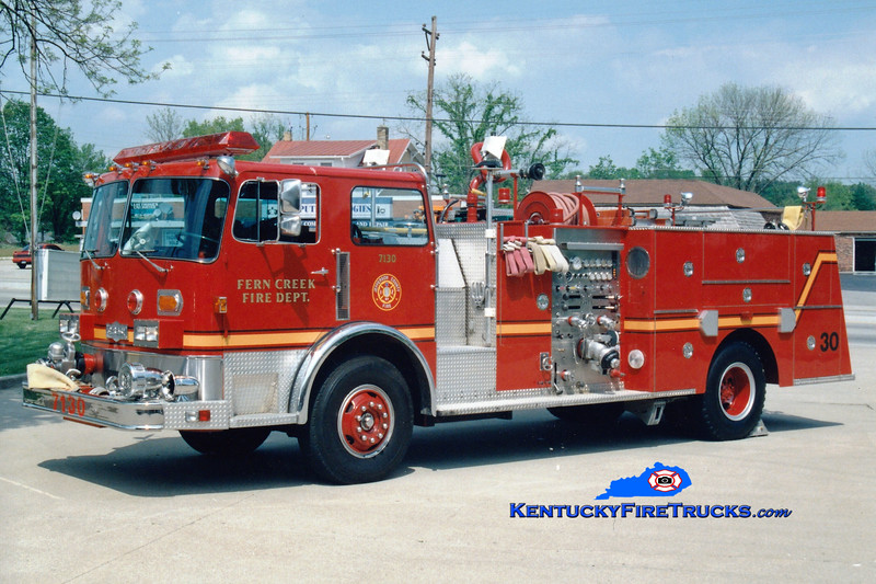 <center> Fern Creek  Engine 7130 <br> 1980 Pirscsh 1750/500 <br> Greg Stapleton photo </center>