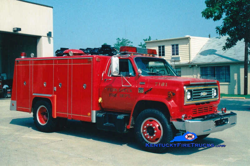 <center> RETIRED <br> Fern Creek  Rescue 7181 <br> 1978 Chevy/Super-Vac <br> Greg Stapleton photo </center>