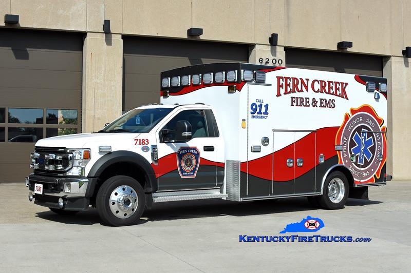 Fern Creek  Med 7183<br /> 2021 Ford F-550 4x4/Braun<br /> Kent Parrish photo