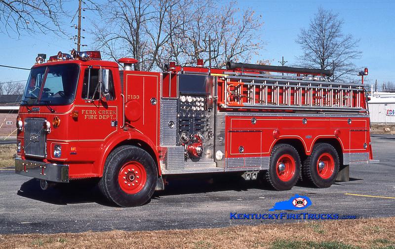 Fern Creek Engine 7133<br /> 1983 White/1985 Pirsch 1250/2000<br /> Kent Parrish collection