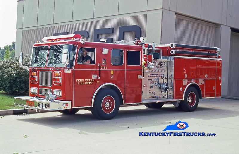 REASSIGNED <br /> Fern Creek Engine 7131<br /> 1993 Seagrave Marauder 2000/750<br /> Kent Parrish collection