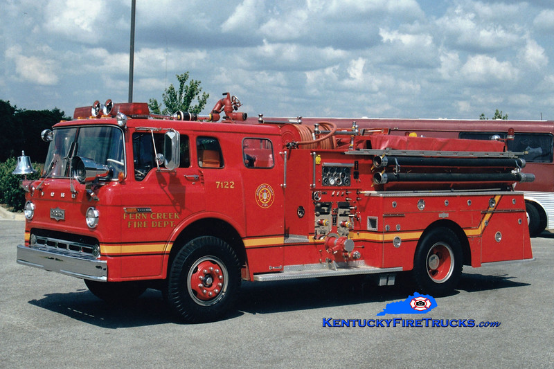 <center> RETIRED <br> Fern Creek  Engine 7122 <br> 1971 Ford C-900/Pirsch 1000/500 <br> Greg Stapleton photo </center>