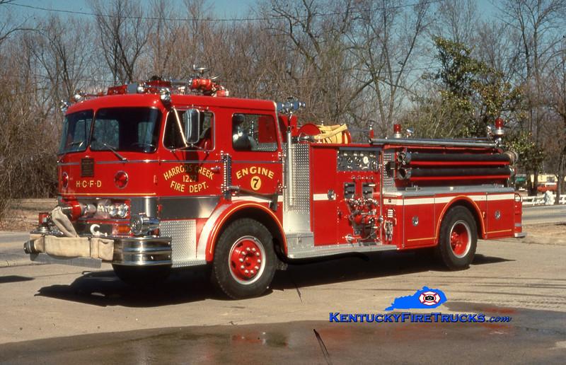 RETIRED <br /> Harrods Creek Engine 1227<br /> 1969 Hahn 1000/500<br /> Kent Parrish collection