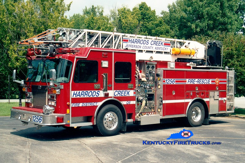 <center> RETIRED <br> Harrods Creek  Quint 1256 <br> 2000 Spartan Gladiator/3D/Aerial Innovations 1500/500/75' <br> Greg Stapleton photo </center>
