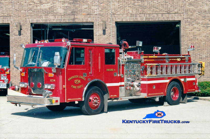 <center> RETIRED <br> Harrods Creek  Engine 1234 <br> 1989 Duplex D-500/Grumman 1500/750 <br> Greg Stapleton photo </center>