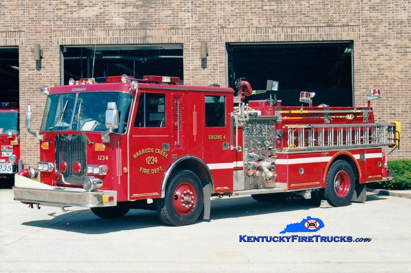 <center> RETIRED <br> Harrods Creek  Engine 1234 <br> 1989 Duplex D-500/Grumman 1500/750 <br> Greg Stapleton photo </center>
