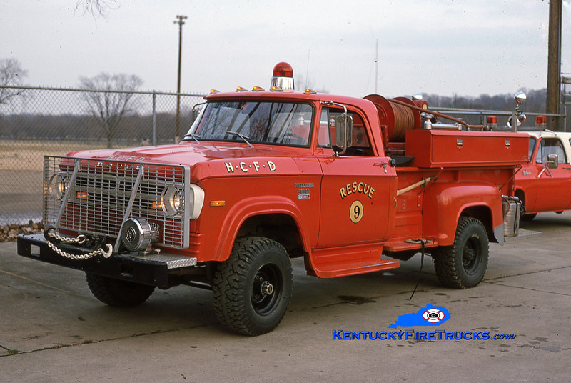 RETIRED<br /> Harrods Creek Rescue 9<br /> 1971 Dodge W-200 4x4 90/125<br /> Kent Parrish collection