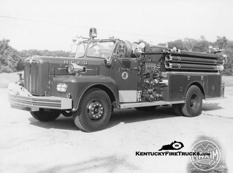 RETIRED<br /> Harrods Creek Engine 2 <br /> 1965 Maxim 1000/500<br /> Kent Parrish collection