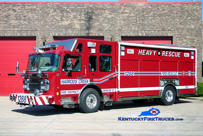 <center> Harrods Creek  Rescue 1288 <br> 2007 Spartan Gladiator/Custom Fire <br> Kent Parrish photo </center>