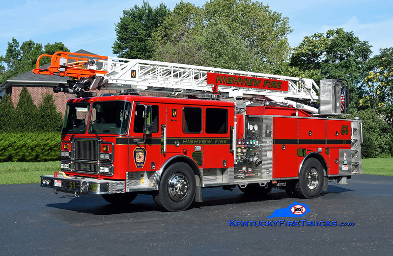 Highview Quint 1151 <br /> 2008 Seagrave Marauder II 1500/500/75' Meanstick<br /> Kent Parrish photo