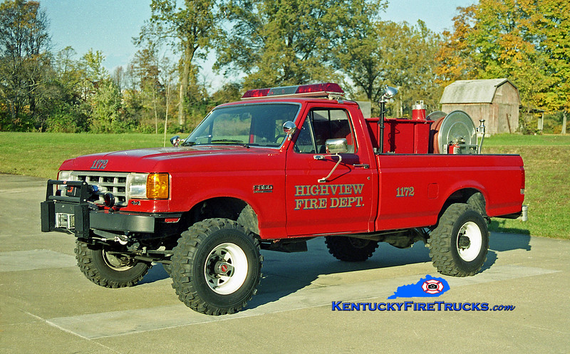 <center> Highview Forestry 1172 <br> 1989 Ford F-350 4x4/American 250/250 <br> Kent Parrish photo </center>
