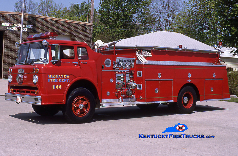 RETIRED<br /> Highview Quad 1144<br /> 1966 Ford C-950/Pirsch 1000/500<br /> Kent Parrish collection