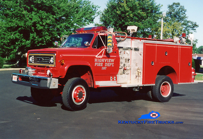 <center> RETIRED <br> Highview Rescue 1187 <br> 1981 Chevy C60 4x4/Pierce 300/300 <br> Kent Parrish collection </center>