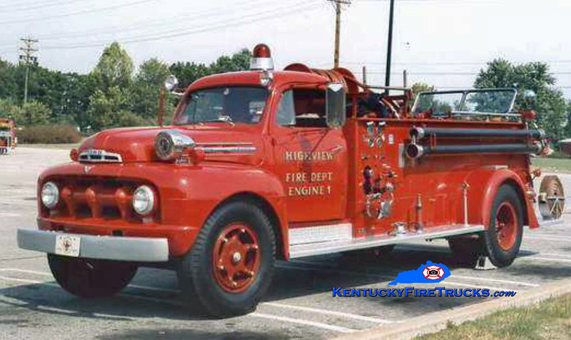 RETIRED <br /> Highview Engine 1 <br /> 1951 Ford F/Pirsch 500/500<br /> Kent Parrish collection