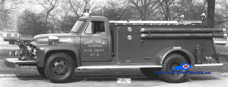 RETIRED <br /> Highview Engine 2 <br /> 1955 Ford F/Darley 500/500<br /> Kent Parrish collection
