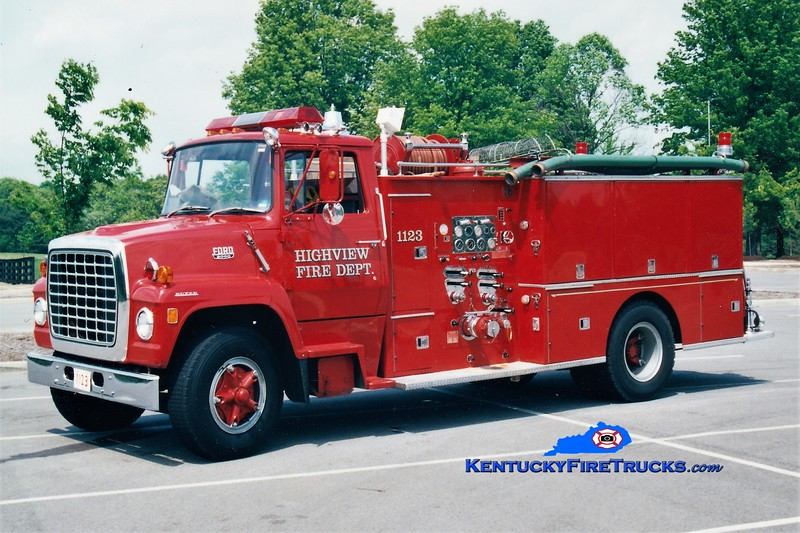 RETIRED<br /> Highview  Engine 1123<br /> 1972 Ford L/Boyer 1000/600<br /> Greg Stapleton photo