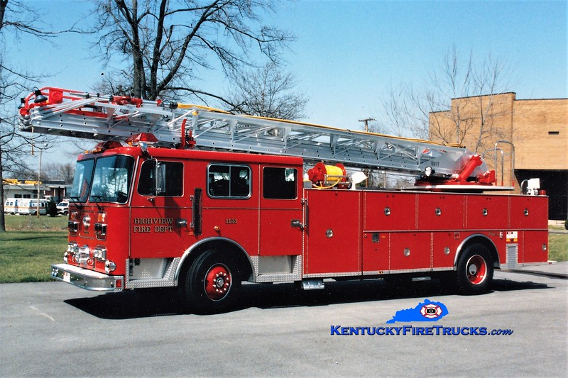 RETIRED <br /> Highview Truck 1151 <br /> 1991 Seagrave JR 100' <br /> Greg Stapleton photo